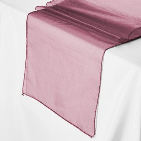 Dark Burgundy Red Sheer Mesh Organza Table Runner