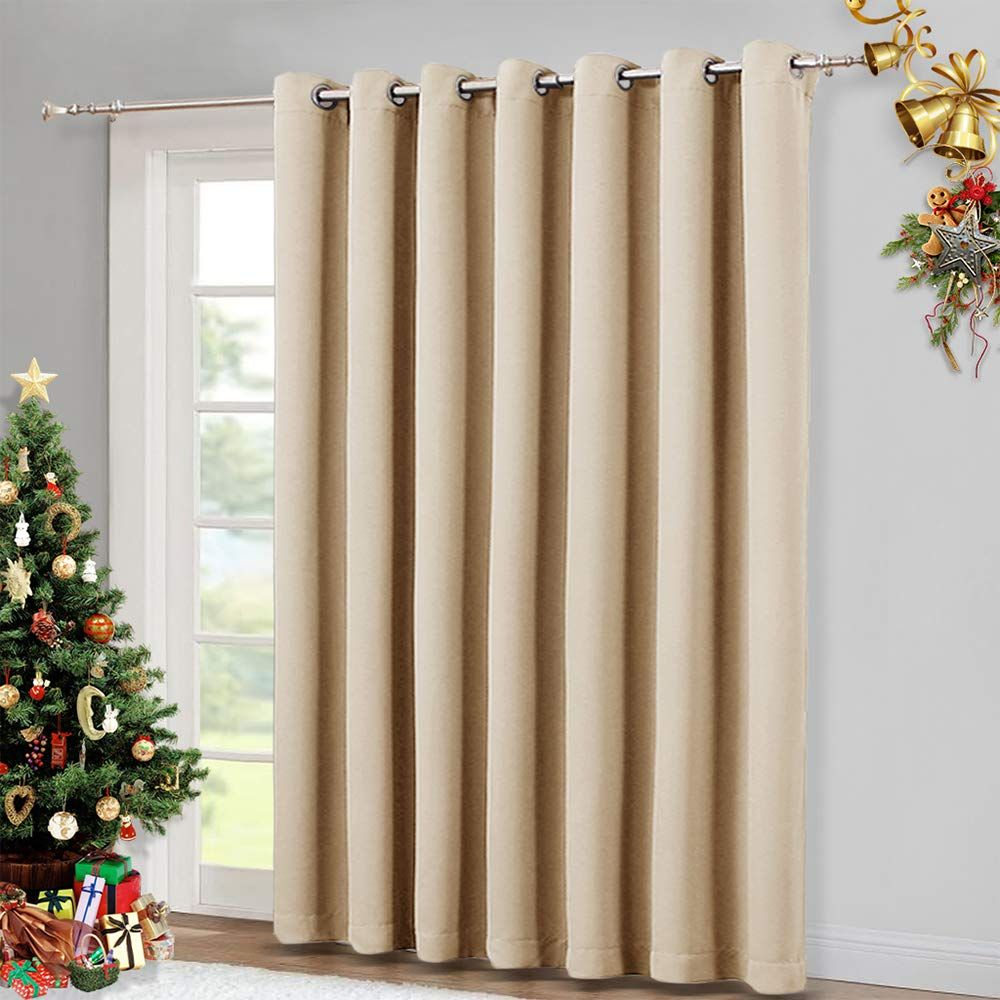 Nicetown Extra Wide Patio Door Curtain Energy Smart Amp Noise Reducing Grommet Thermal I In 2020 Insulated Blackout Curtains Sliding Patio Doors Insulated Curtains