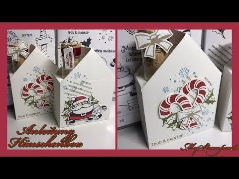 Anleitung Häuschenbox mit Schornstein - mit Stampin' Up!-Materialien