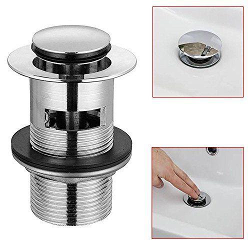 FYI ronds Pop Up Bonde de lavabo de salle de bain Chrome évier Push - cout plomberie maison neuve