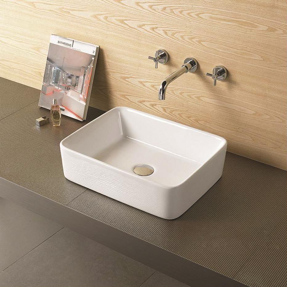 Farm Style Rectangle Bathroom Top Mount Basin Sink Bathroom Sinks For Sale Rectangular Sink Bathroom Basin Sink Bathroom