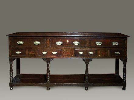 Antique Welsh Oak Dresser Base C 1820