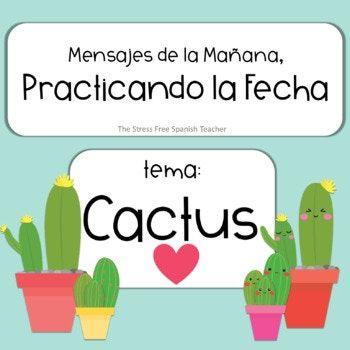 Mensajes de la Manana / La FECHA / CACTUS Theme PowerPoint