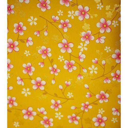 papier peint a fleur pip studio cherry blossom moutarde ref 313020 texture and materials. Black Bedroom Furniture Sets. Home Design Ideas