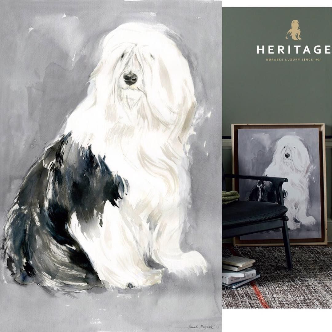 I have a print of this Old English Sheepdog for sale, life size and
