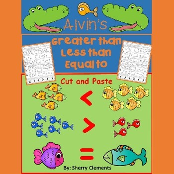 Fish Greater Than Less Than Equal To Printables Cut And Paste