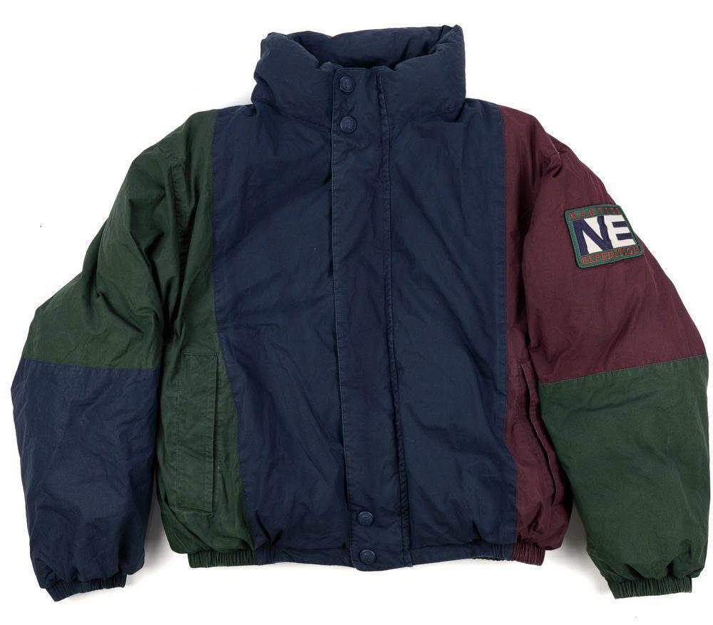 Nautica Expedition Puffer Coat Xl Vintage Reversible Jacket Duck