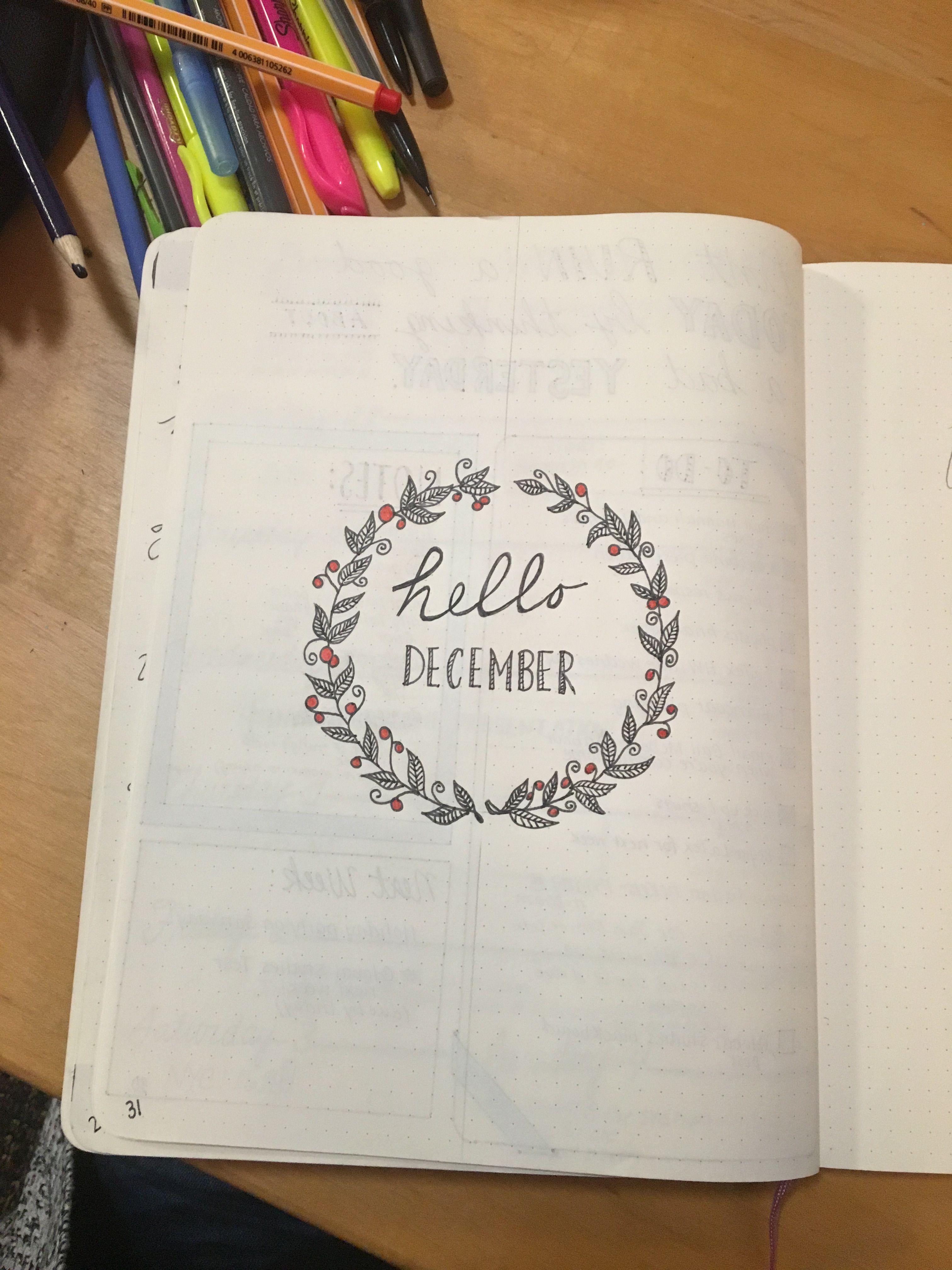 Hello December! Month beginner for Bullet Journal