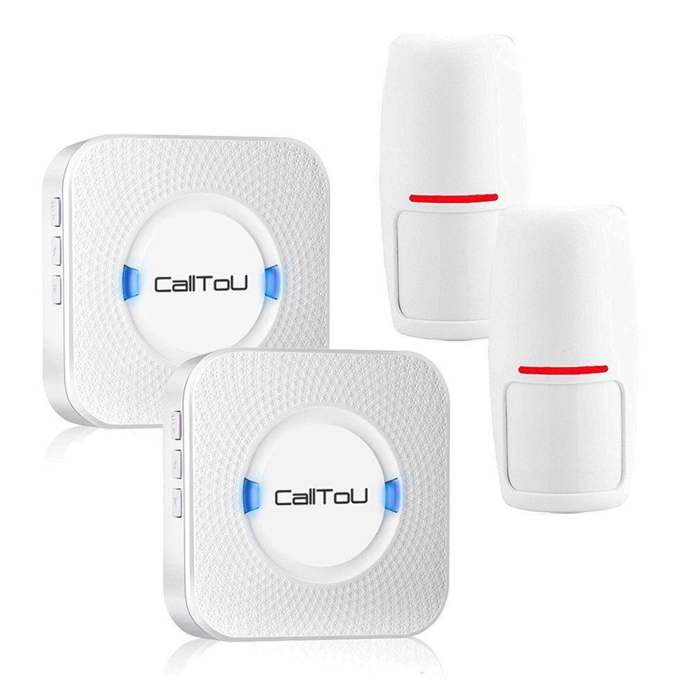 CallToU Wireless Motion sensor Entrance Entry Chime Driveway Door Alert Chime Alarm Long Range #walkwaystofrontdoo… | Doorbell chime, Motion sensor, Intruder alarm