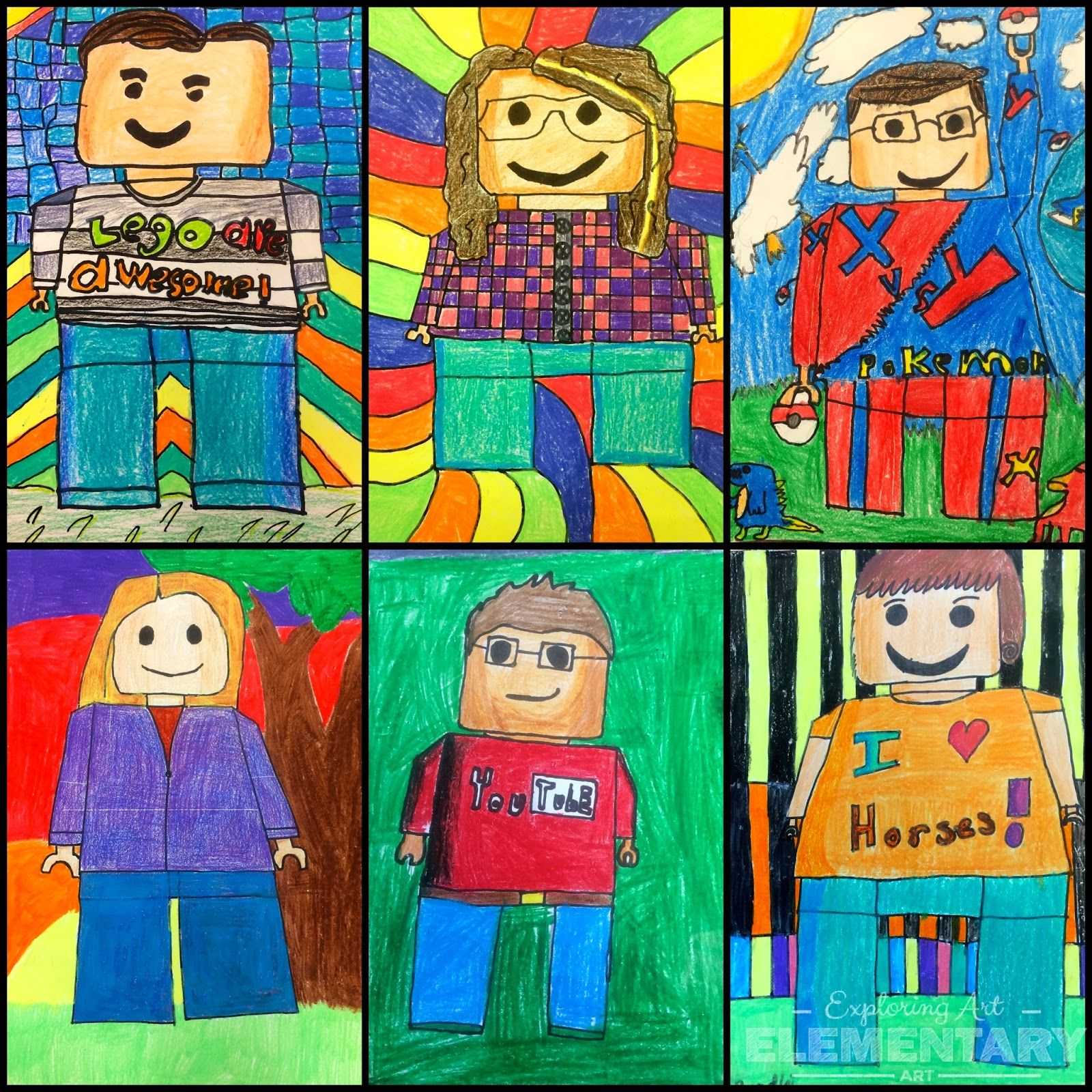 They Re Back 5th Grade Lego Self Portraits Exploring Art