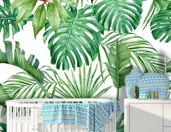 tropical wall mural Peel n stick wallpaper, Temporary