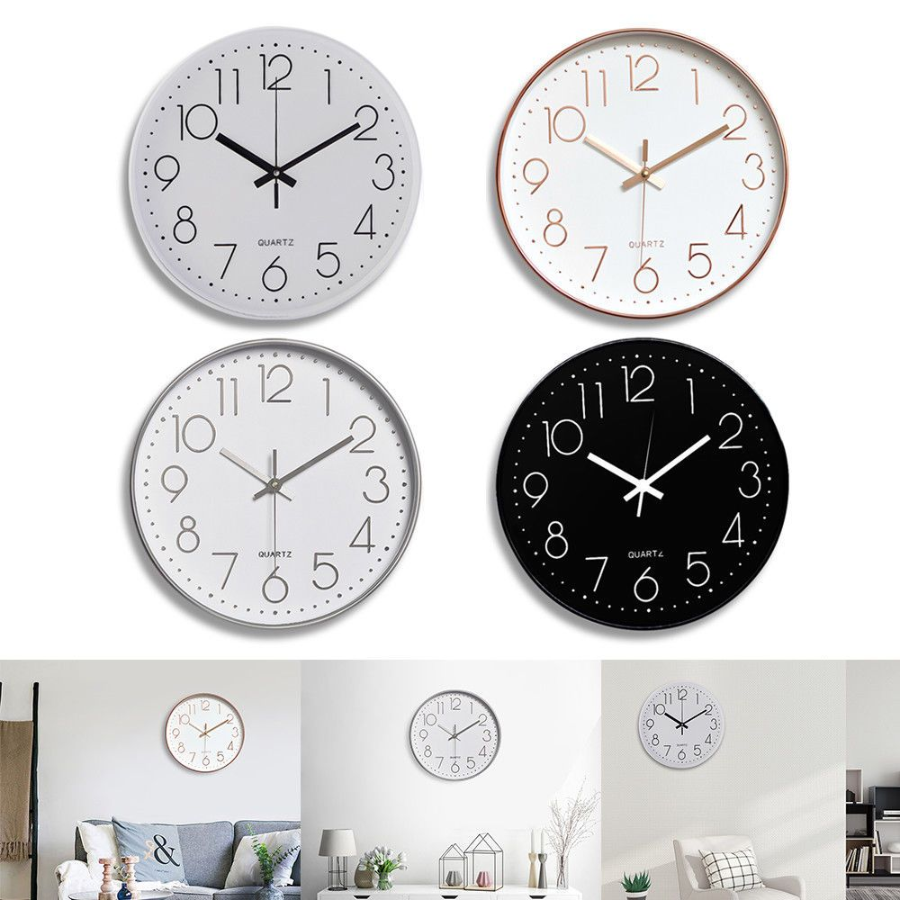 Details About 12 3d Modern Outdoor Wall Clock Silent Non Ticking Digital Battery Quartz Home With Images Wall Clock Silent Outdoor Wall Clocks Modern Outdoor Clocks