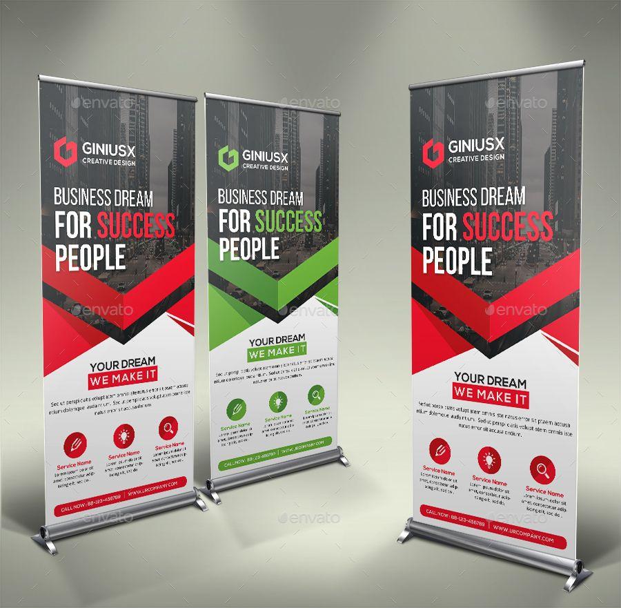 Corporate Roll Up Banner Brochure Design Template Roll Banner Rollup Banner