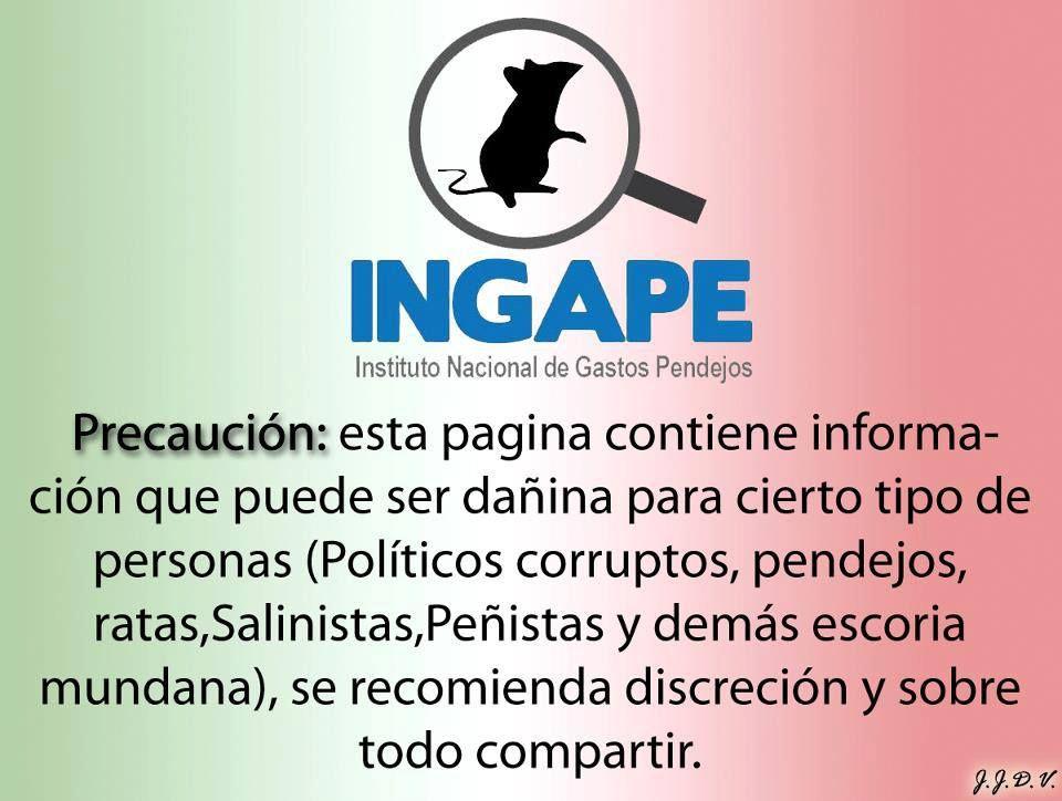 alerta con el INGAPE