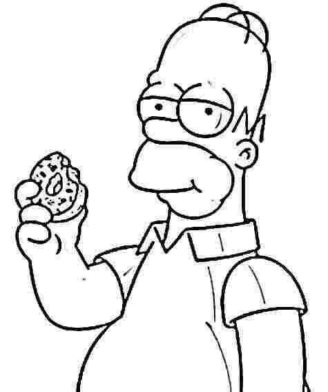 Homer Simpson Eats Donut Coloring Page Jpg 475 567 Pixels Simpsons Drawings Homer Simpson Drawing Hippie Painting