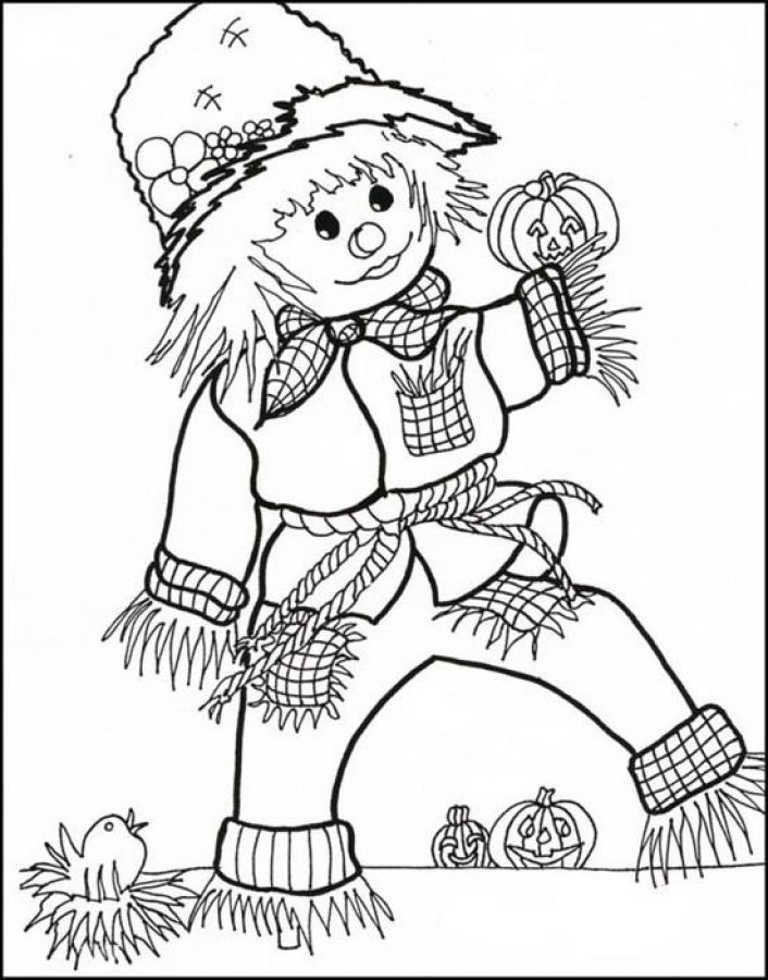 Scarecrow coloring pages to print out for free | Fun Coloring Pages ...