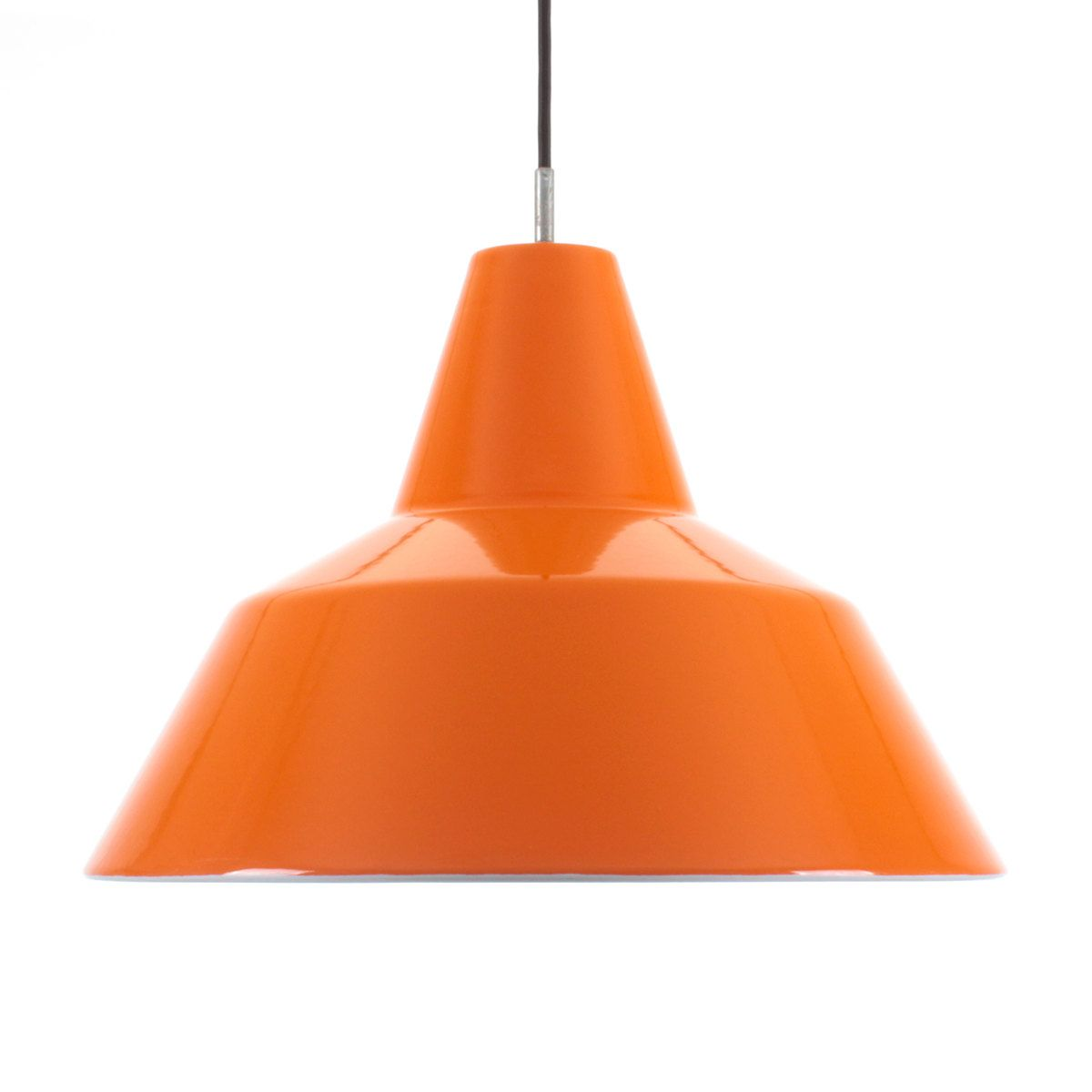 Orange hanging lamp - Enamel Pendant By Louis Poulsen 1960s Iconic Danish Vintage Design Mid Century Orange Hanging Lamp In Excellent Vintage Condition
