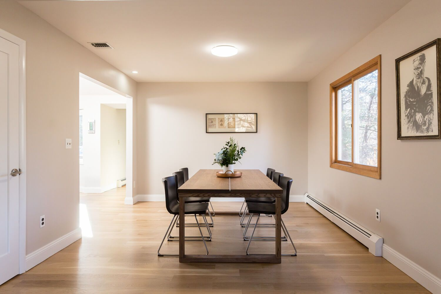Dining room with a new 6-1/2 ft wide opening into the ...