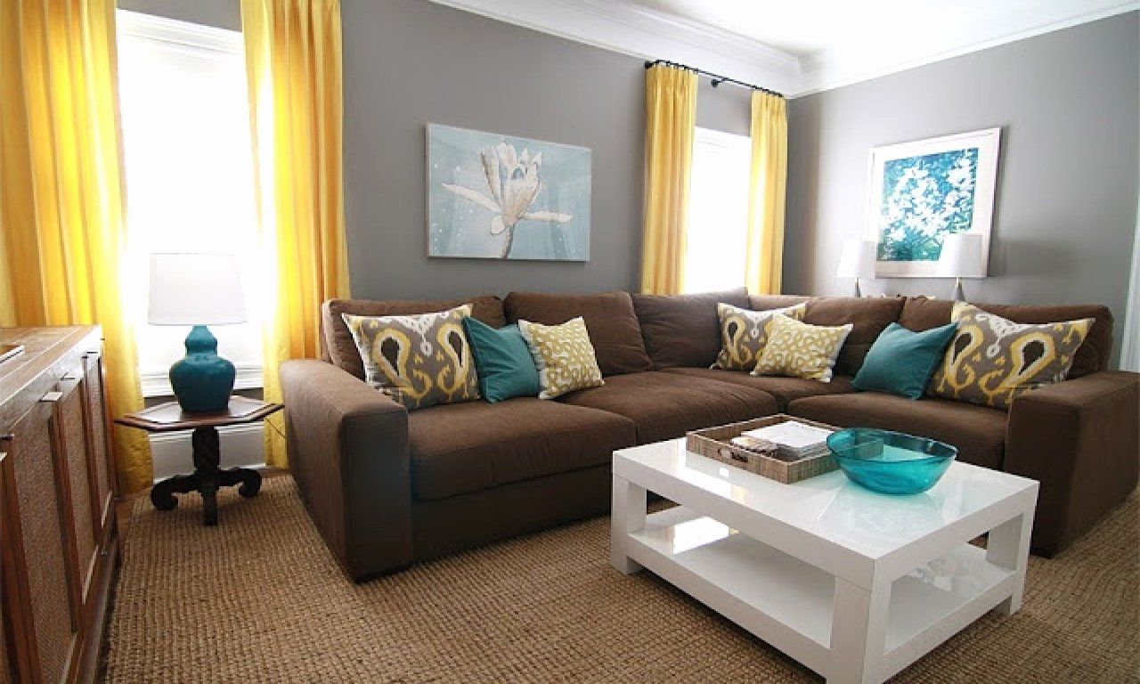 Brown And Teal Living Room Idea Inspirational Teal Yellow B