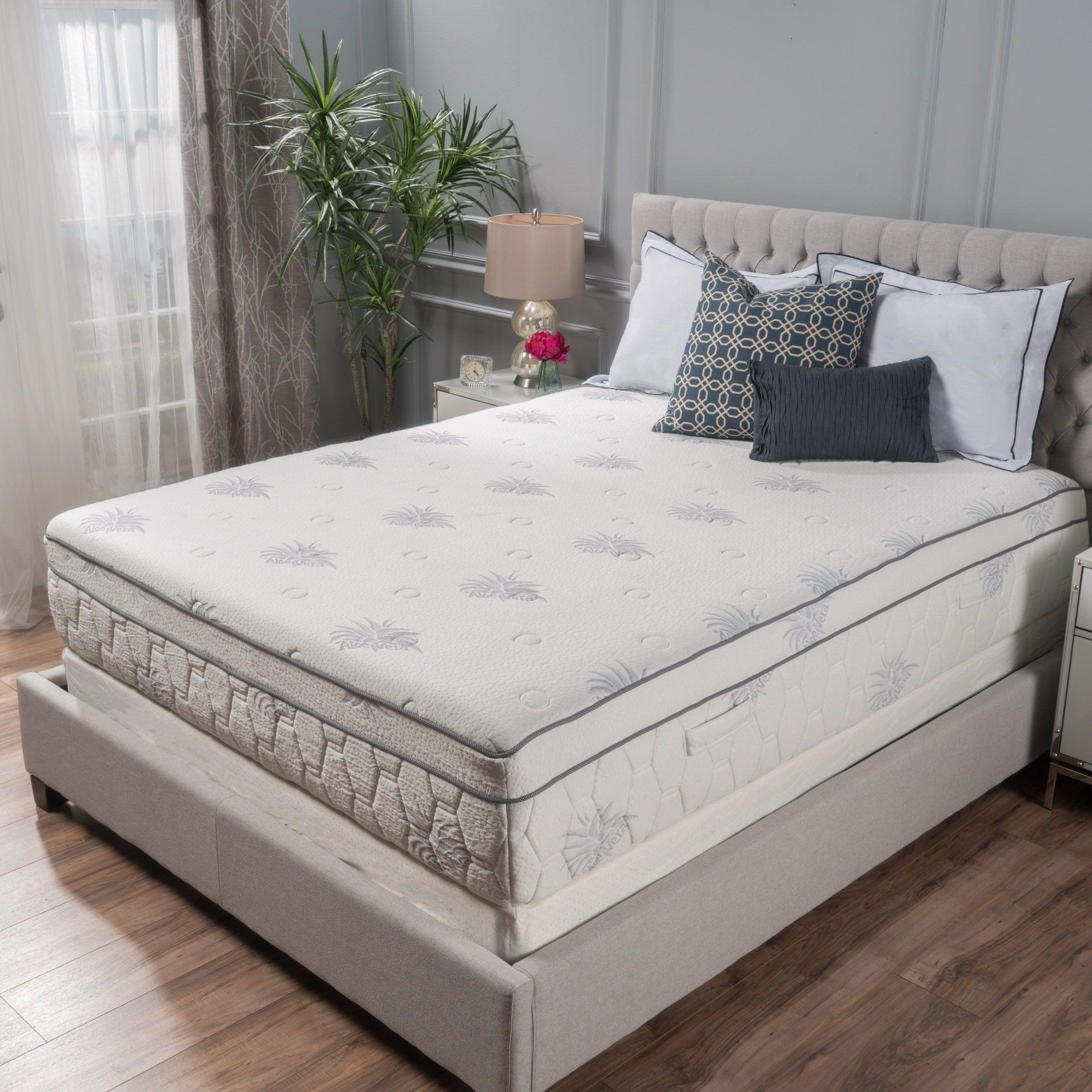 13 Inch Aloe Gel Memory Foam Pillow Top Mattress By Christopher