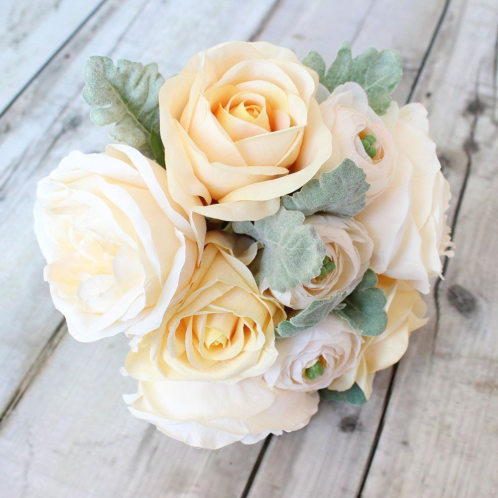 Looking for blush wedding flowers check out this gorgeous rose and looking for blush wedding flowers check out this gorgeous rose and ranunculus silk bouquet in peach blush with creamy yellow for a custom diy design izmirmasajfo