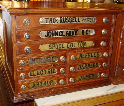 Details About Vintage Wooden Thread Spool Cabinet Stand