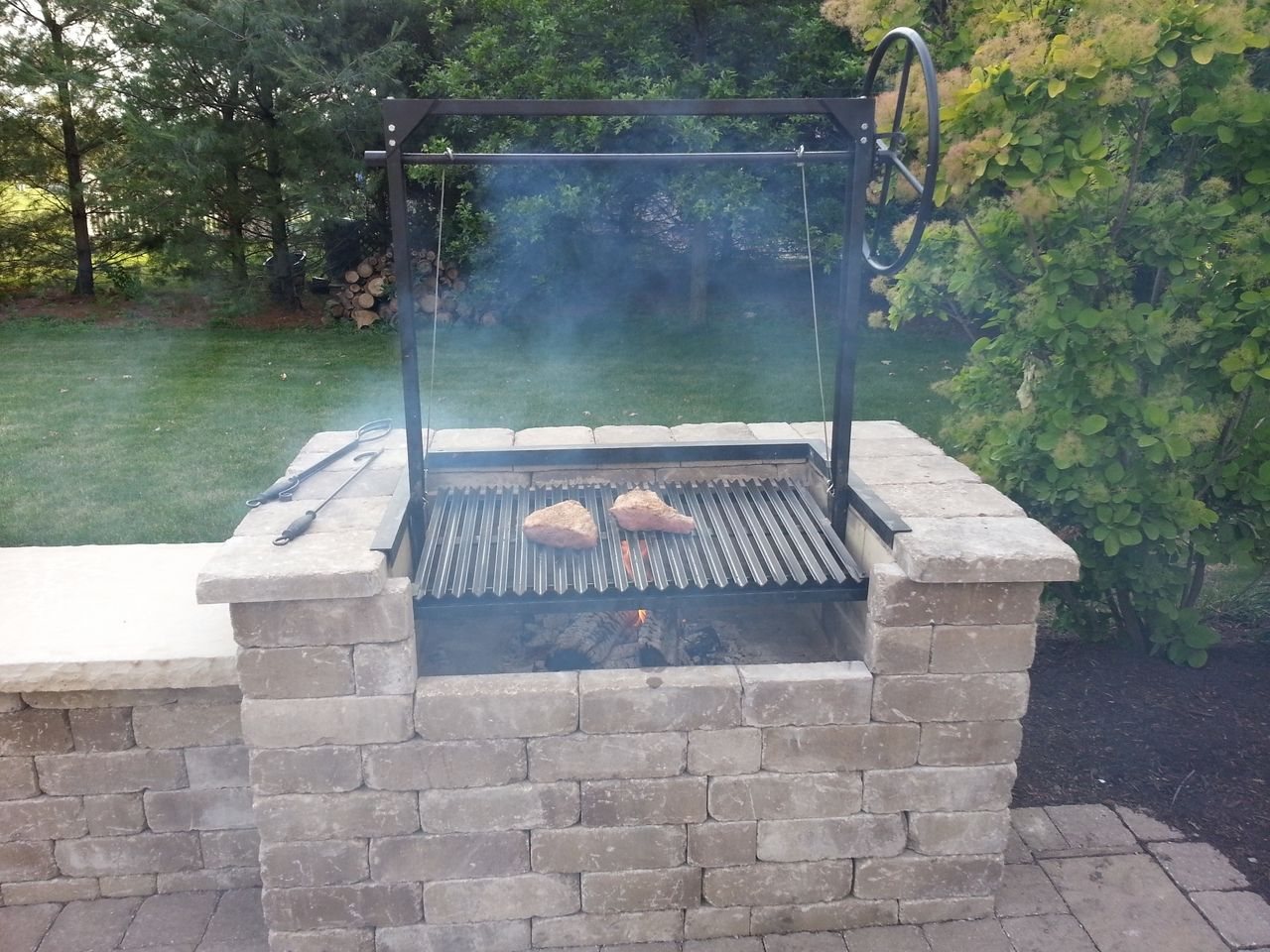 The Plum | Argentine Grill Kit for Wood or Charcoal Grilling with no ...