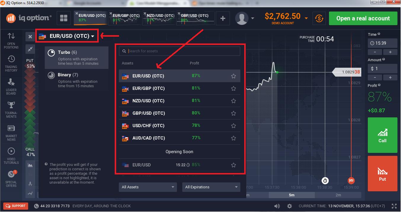 panduan trading iq option