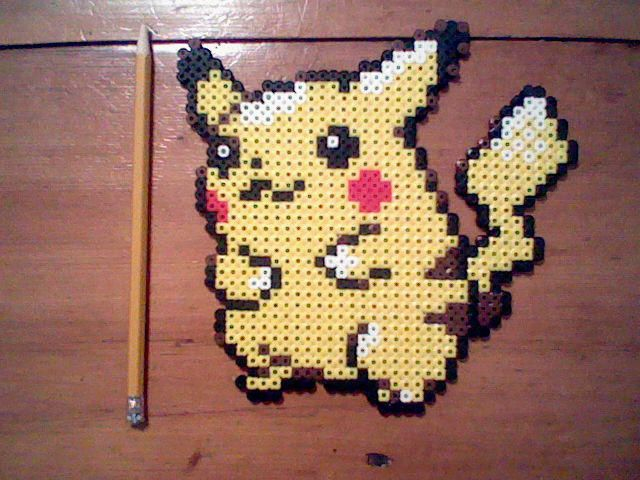 Pikachu Perler Bead Sprite by ThunderThor77 | Pokemon