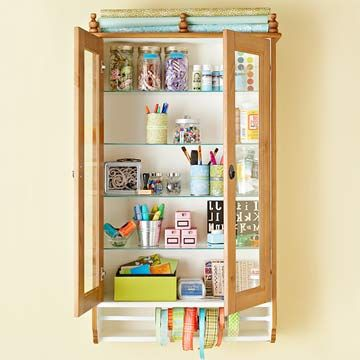 What a clever way to reuse/recycle an old medicine cabinet...