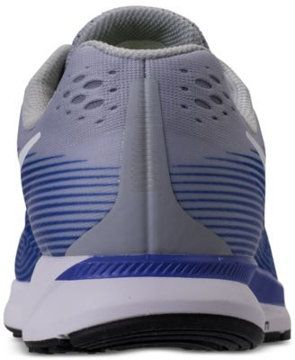 1c34a7062 Nike Men s Air Zoom Pegasus 34 Wide Width (4E) Running Sneakers from Finish  Line - WOLF GREY WHITE-RACER BLU 7