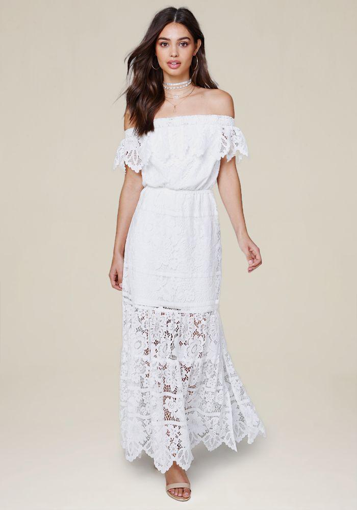82958c4183d Bebe Women s Britt Lace Maxi Dress