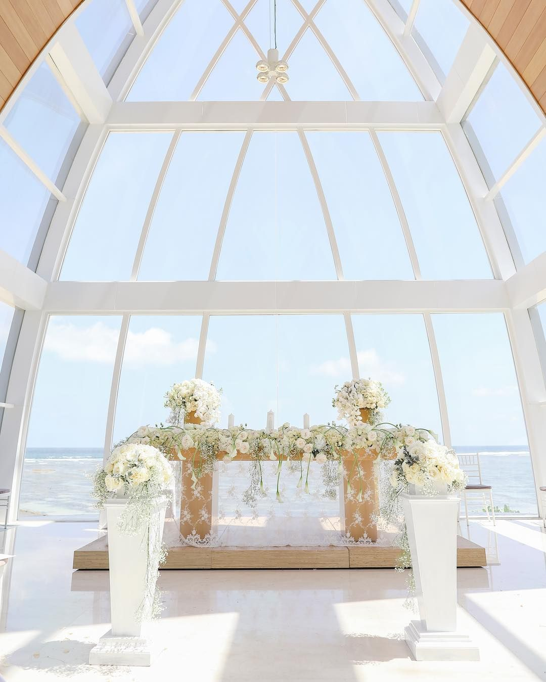 Magnificent View From The Wedding Altar Of The Majestic Chapel In The Ritz Carlton Bali The Wedding Of Kenneth Caroli Wedding Altars Wedding Chapel Wedding