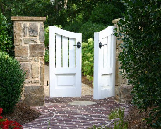 garden pillars. Beautiful Garden Gate With Stone Pillars L