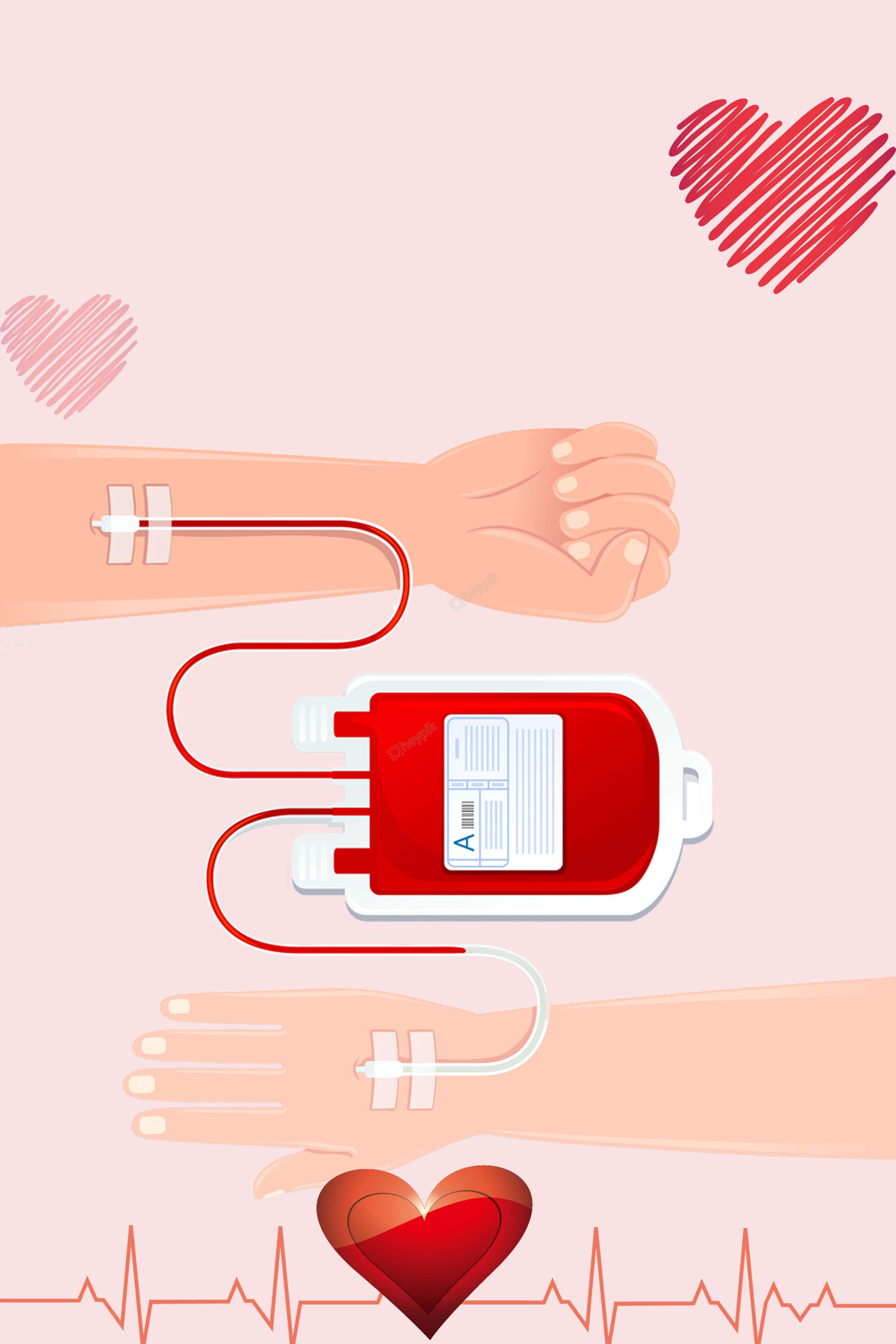 Flat blood donation public service advertising background