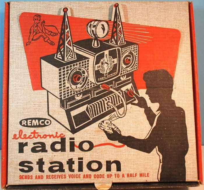 Remco 1950s Electronic Radio Station Vintage Toys Fascinating Learning And Play For Older Children With Adults On Board Radio Station Vintage Radio Radio