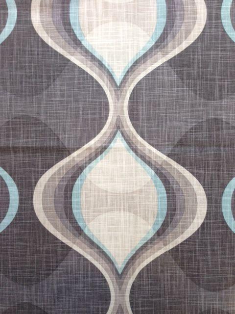 The Whole 9 Yards Mid Century Modern Drapery Curtain Fabric Graphic Edge