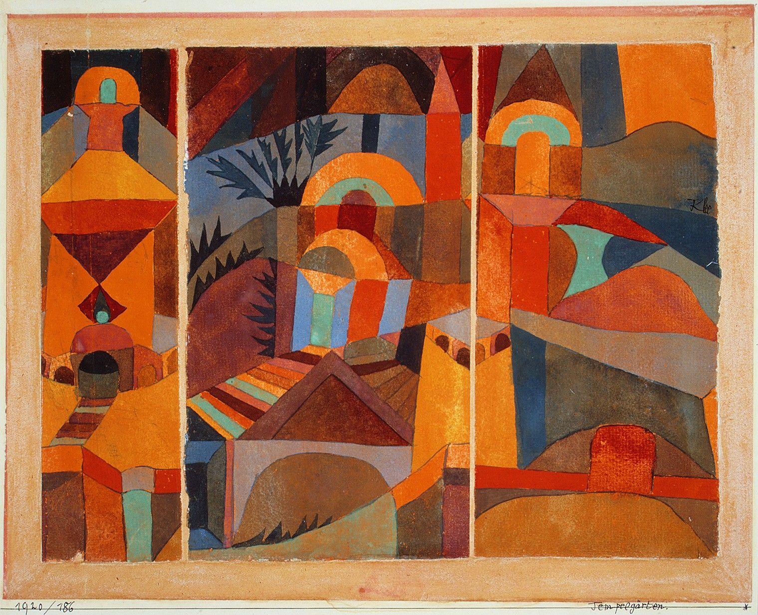 'Tempelgärten' by Paul Klee