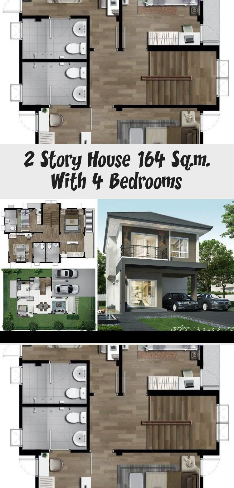 2 Story House 164 Sq M With 4 Bedrooms House Description Number Of Floors 2 Storey Housebedroom 4 Roomstoilet 3 Roomsmaid S In 2020 Story House 2 Story Houses House