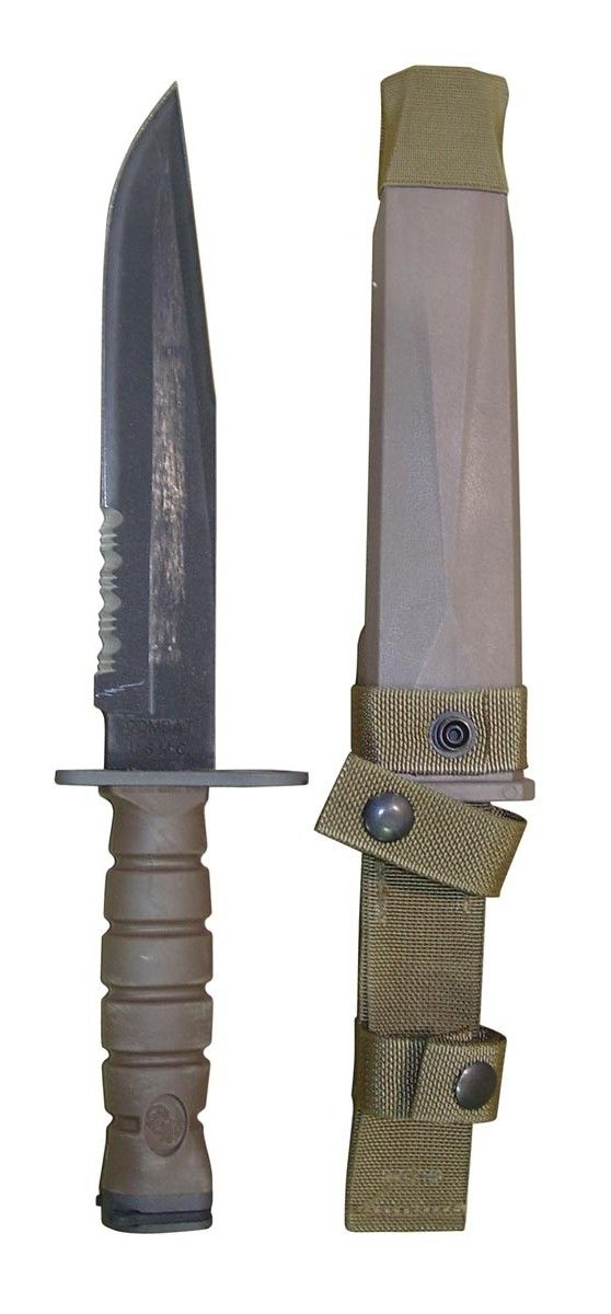 Of course the marines wanted to have theirs a little bigger than the Army M9.. OKC 3S US Marine Bayonet