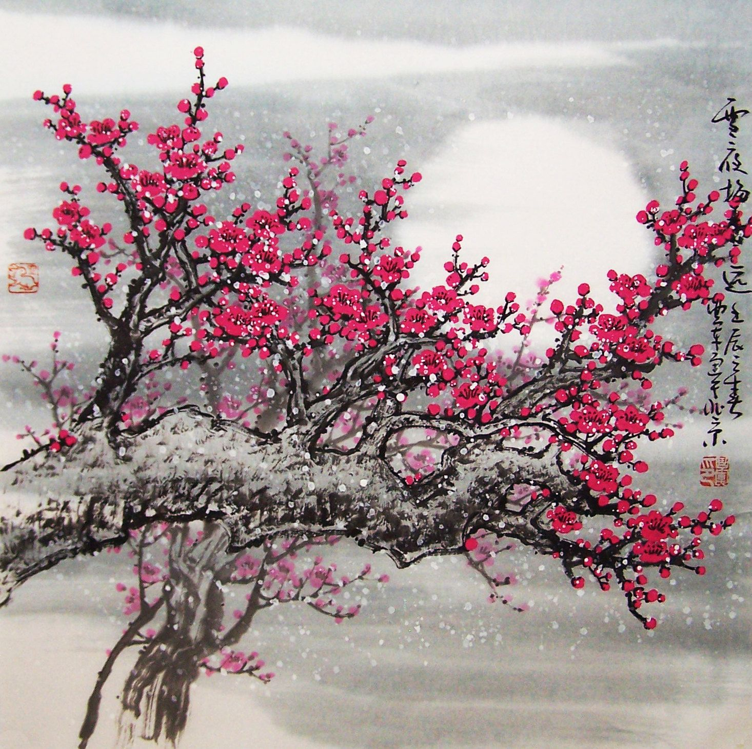 Chinese Artwork | Original painting oriental art chinese ...
