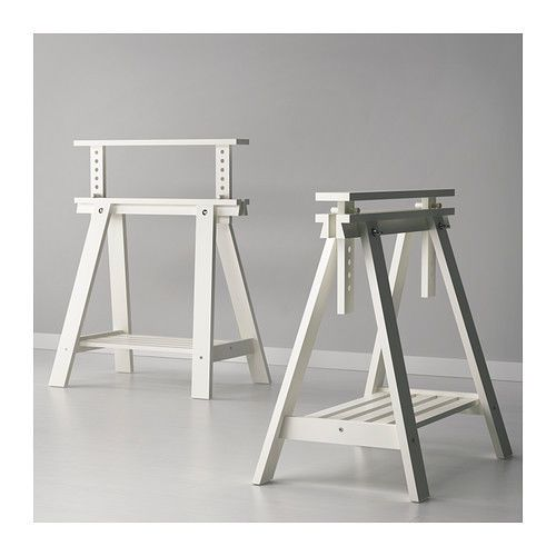 Adjustable Height FINNVARD TRESTLE TABLE Wooden Stand Legs