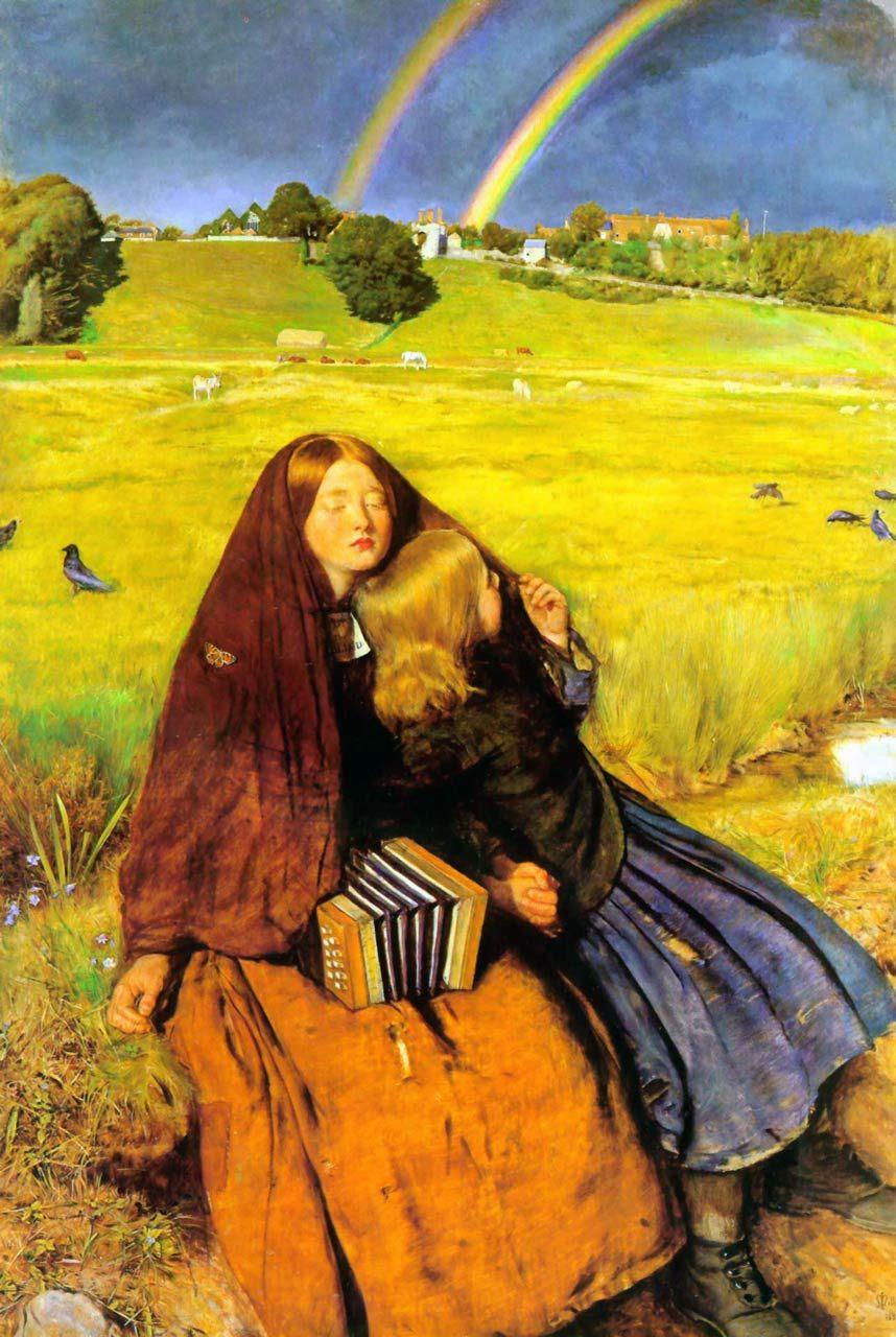 John Everett Millais - The blind girl (1856)