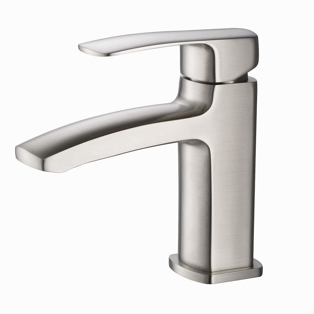 Fresca Fiora Single Hole Mount Bathroom Vanity Faucet  Brushed Fair Brushed Nickel Bathroom Faucets Inspiration