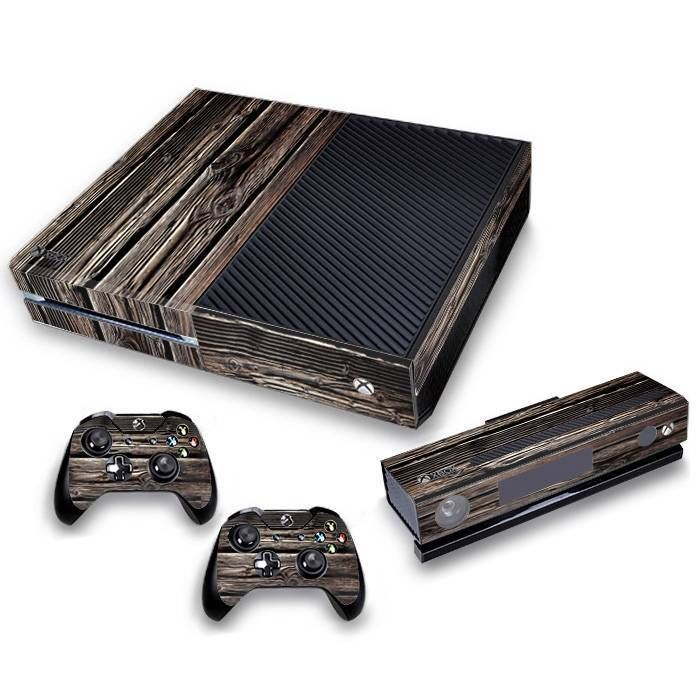 Wood grain timber full body vinyl skin kit for xbox one console 2 wood grain timber full body vinyl skin kit for xbox one console 2 remotes kinect sciox Gallery