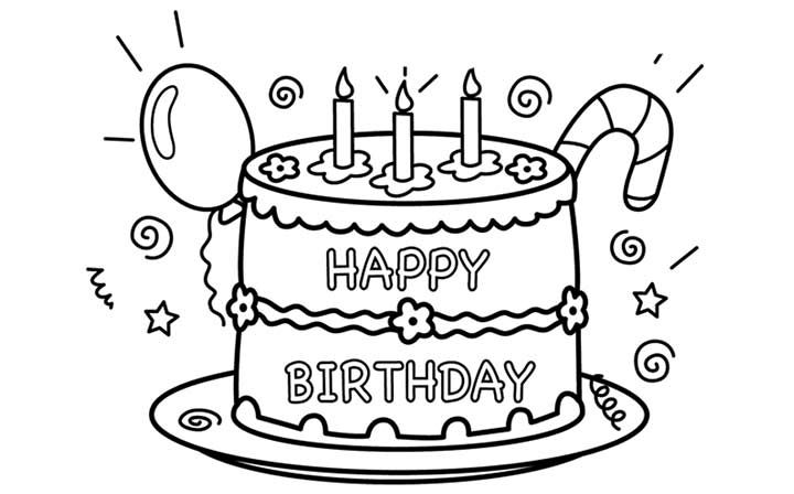 Happy Birthday Coloring Pages Free Printables Happy Birthday Coloring Pages Birthday Coloring Pages Free Printable Birthday Cards