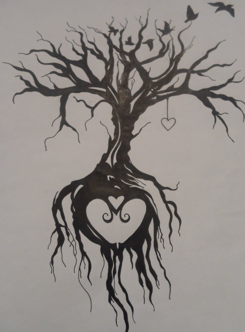 Tree Of Life Tattoo With Heart Roots: Tree Of Life Tattoo By EmmyBunny.deviantart.com On