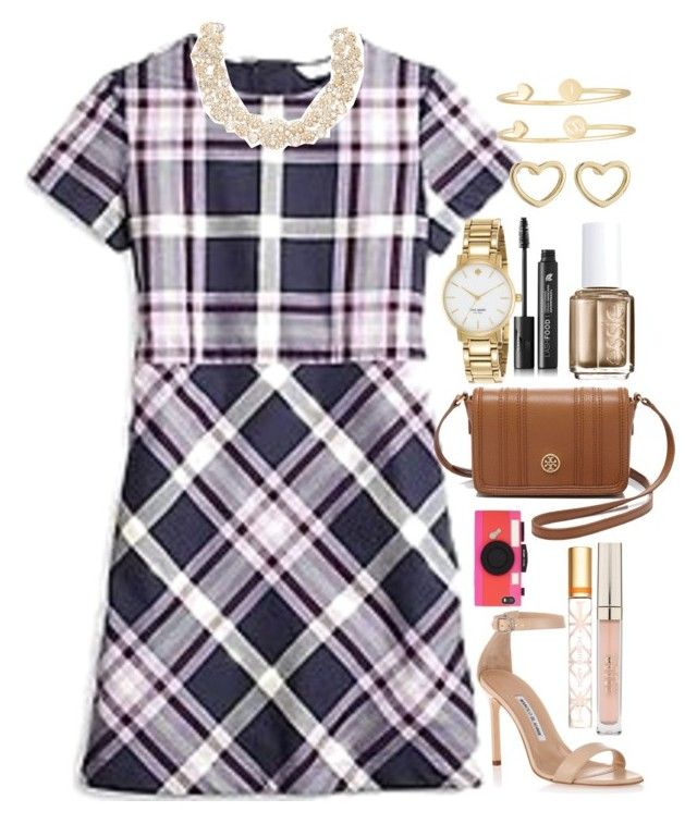 """And once again, I'm second best."" by classically-kendall ❤ liked on Polyvore featuring Brooks Brothers, Kate Spade, Sarah Chloe, Marc by Marc Jacobs, Tory Burch, LashFood, Stila, Manolo Blahnik and Essie"