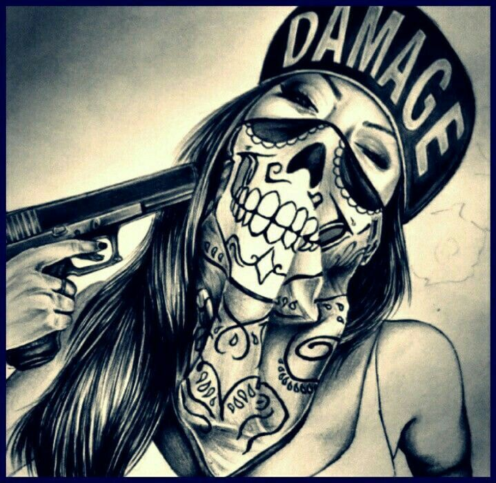 Gangster Sketches: Pin By Dots Vargas On Gangster Art