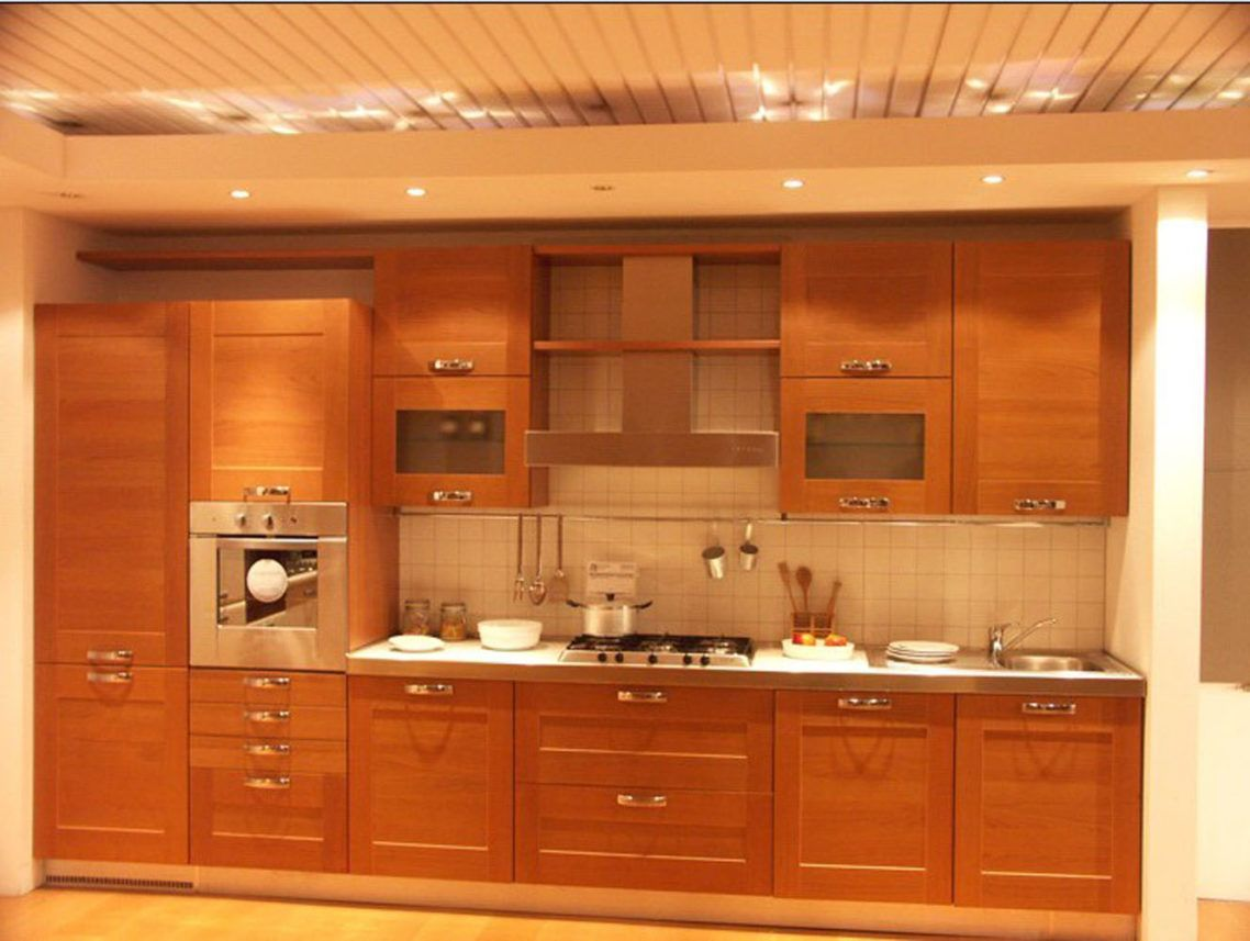 Wonderful Dark Brown Wood Stainless Cool Design Cabinets Kitchen Door Wood Mahogany Flat Panel